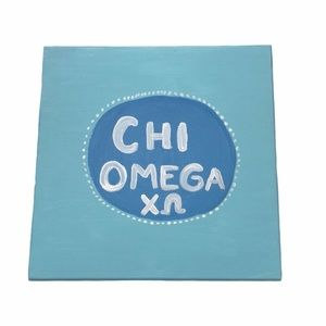 Chi Omega Blue & White Painting